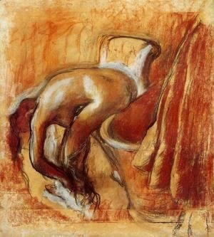 Edgar Degas - After the Bath, Woman Drying Herself IV