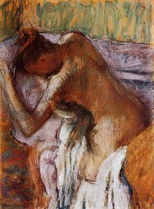 Edgar Degas - After the Bath XII