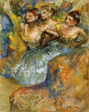 Edgar Degas - Group of Dancers I