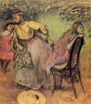 Edgar Degas - Madame Alexis Rouart and Her Children