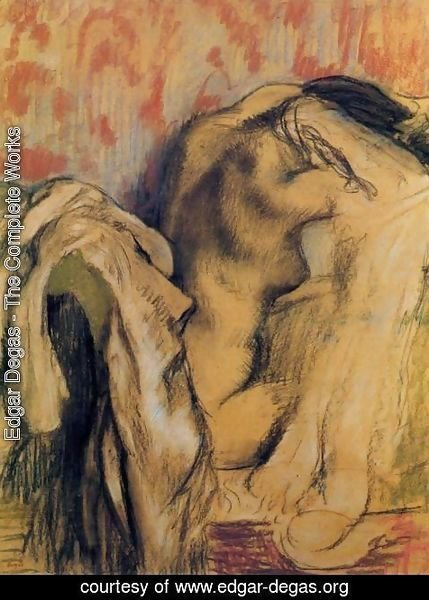 Edgar Degas - After Bathing, Woman Drying Herself