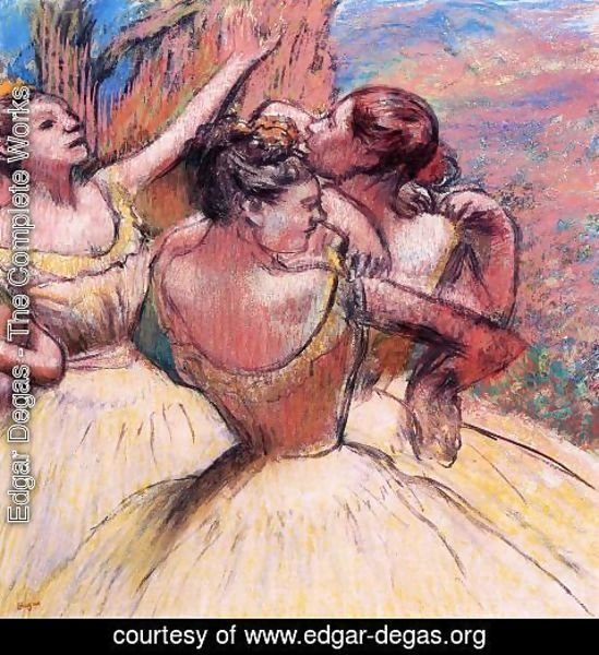 Edgar Degas - Three Dancers III