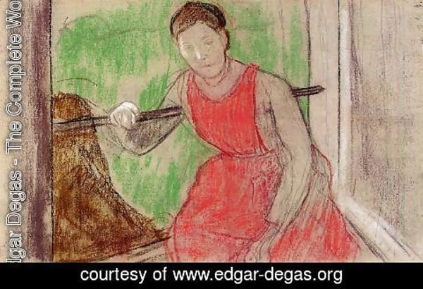 Edgar Degas - Woman at the Windoiw
