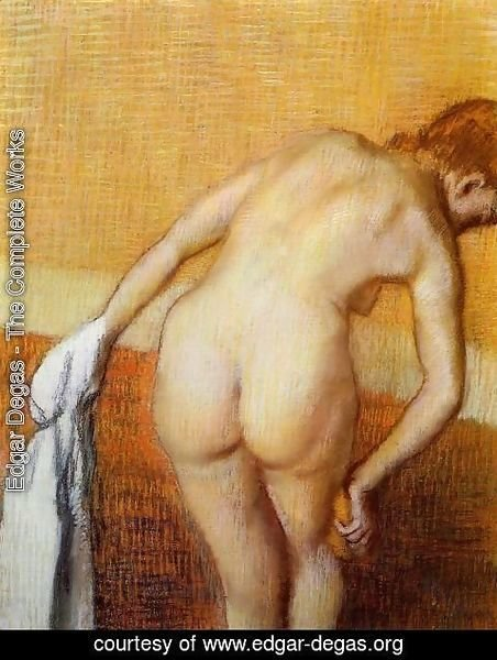 Edgar Degas - Woman Having a Bath