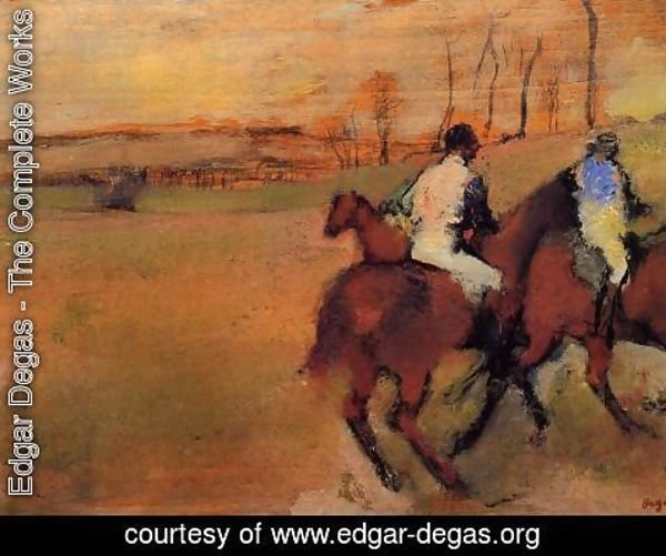 Edgar Degas - Horses and Jockeys