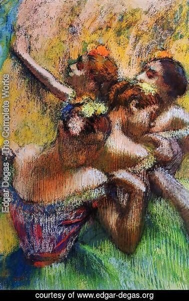 Edgar Degas - Four Dancers II