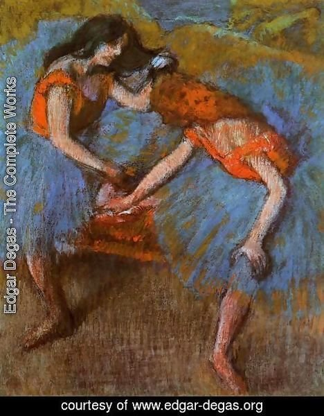 Edgar Degas - Two Dancers with Yellow Carsages