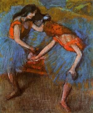 Two Dancers with Yellow Carsages