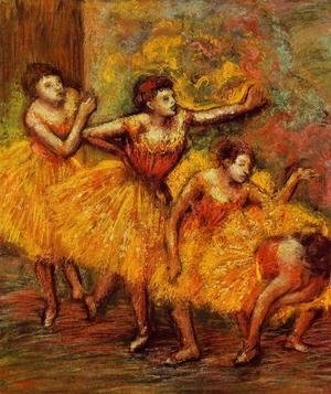 Edgar Degas - Four Dancers III
