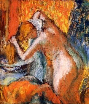 Edgar Degas - After the Bath, Woman Drying Her Hair