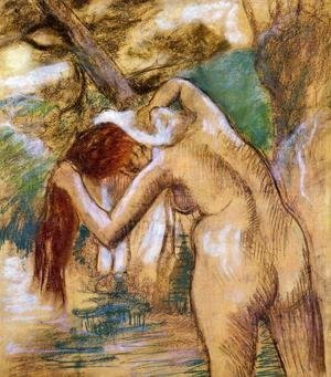 Edgar Degas - Bather by the Water