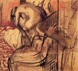 Edgar Degas - After the Bath XIII