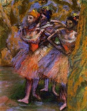 Edgar Degas - Three Dancers IV