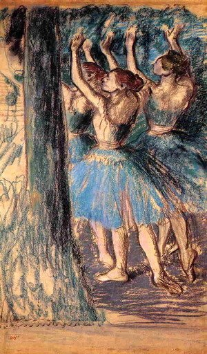 Edgar Degas - Group of Dancers, Tree Decor