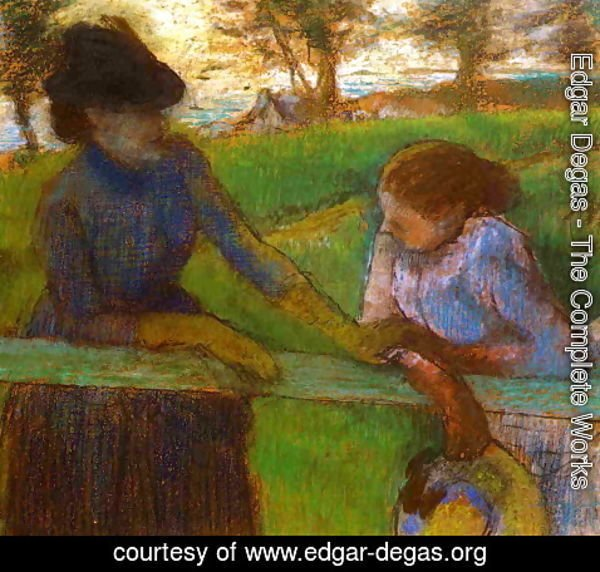 Edgar Degas - The Conversation