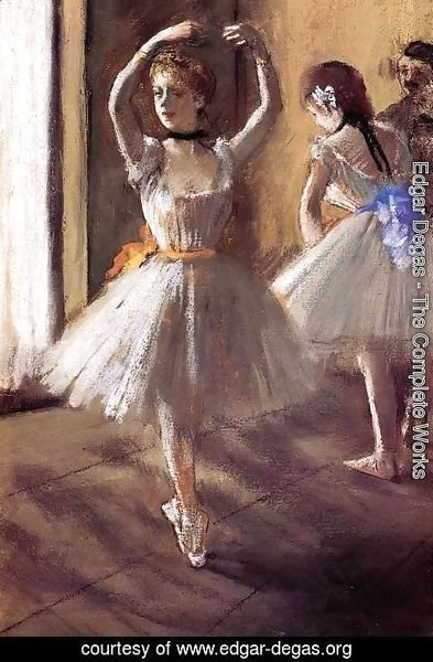 Edgar Degas - Two Dancers in the Studio I