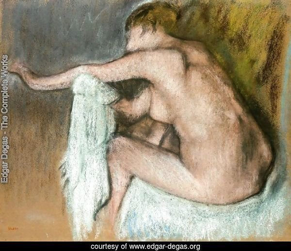 Woman Drying Her Arms