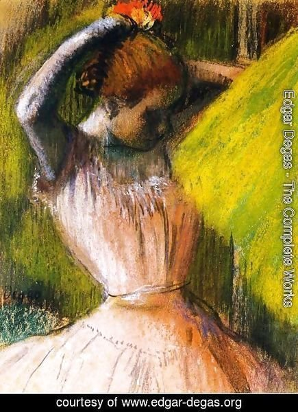Edgar Degas - Ballet Corps Member Fixing Her Hair
