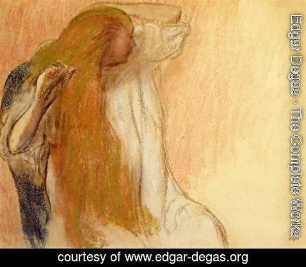 Edgar Degas - Woman Combing Her Hair V