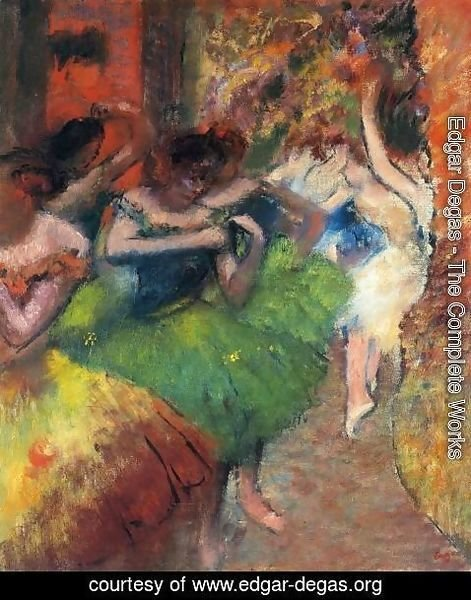 Edgar Degas - Dancers in the Wings II