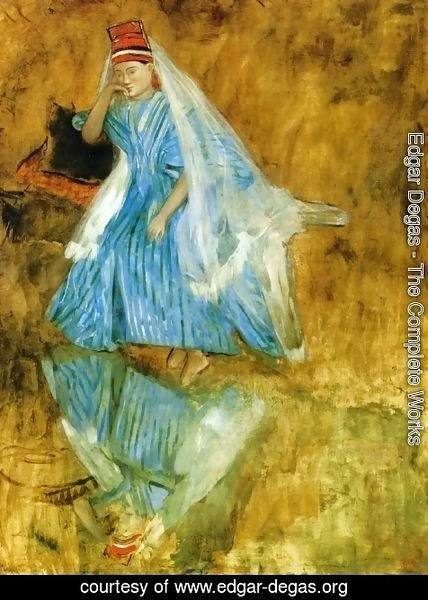 "Edgar Degas - Mademoiselle Fiocre in the Ballet ""The Source"" (study)"