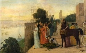 Edgar Degas - Semiramis Building a City