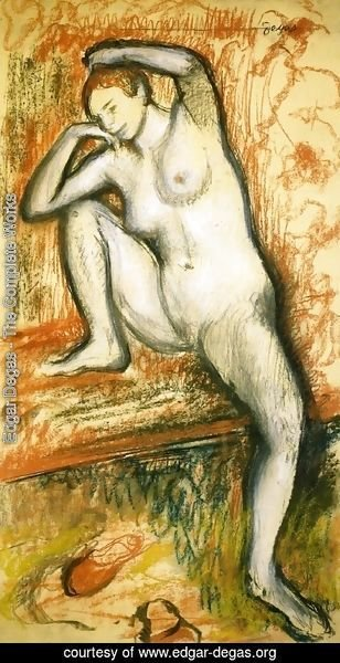Edgar Degas - Nude Study of a Dancer