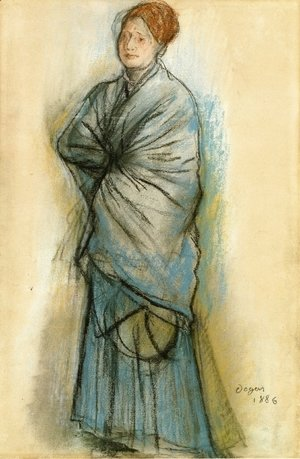 Edgar Degas - Woman in Blue