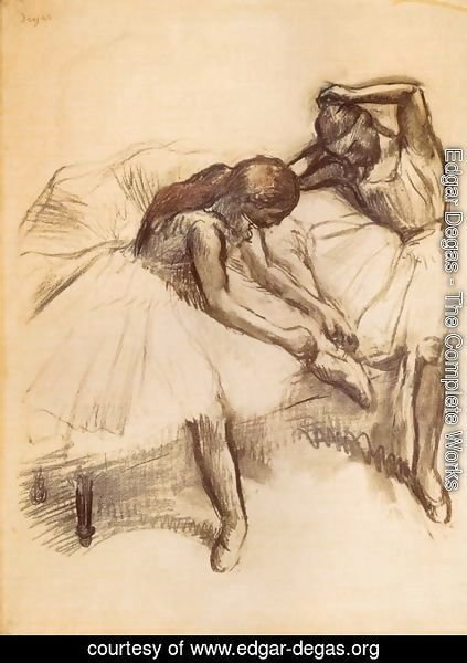 Edgar Degas - Two Dancers V