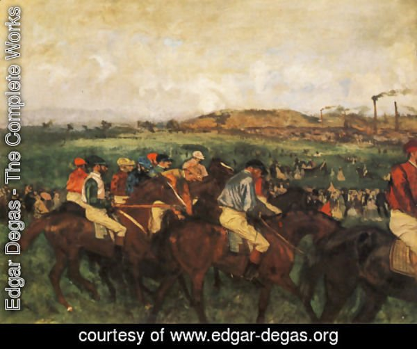 Edgar Degas - Gentlemen Jockeys Before Start