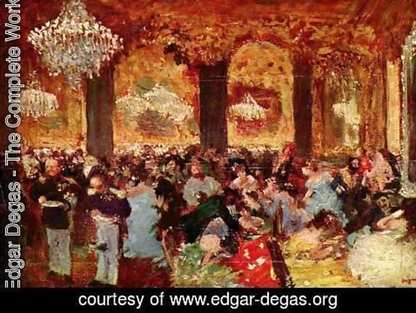 Edgar Degas - after Adolph of Menzels Ballsouper