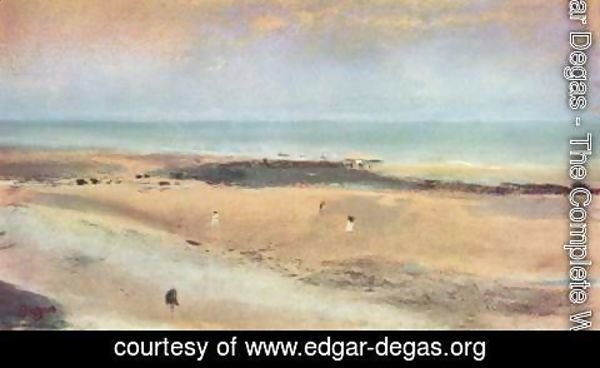 Edgar Degas - Beach at Ebbe