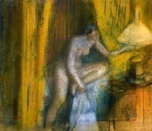 Edgar Degas - Before the Curtain Call 2