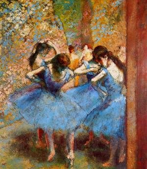 Edgar Degas - Blue Dancers