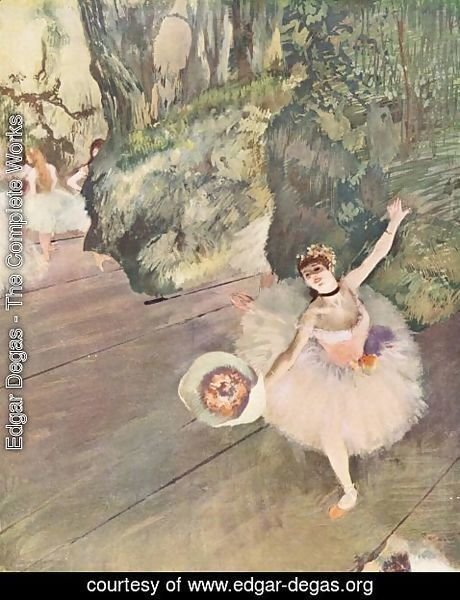 Edgar Degas - Dancer with bouquet