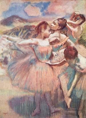 Edgar Degas - Dancers in a landscape