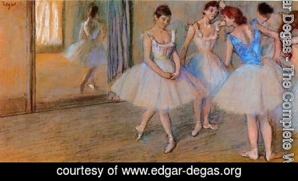 Edgar Degas - Dancers in a Studio 2