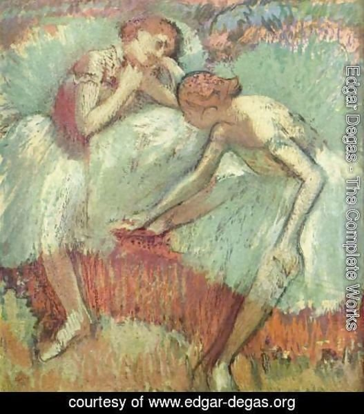 Edgar Degas - Dancers in green 2
