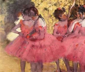Edgar Degas - Dancers in Pink 2