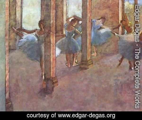 Edgar Degas - Dancers in the entrance hall