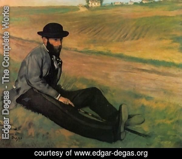 Edgar Degas - Eugene Manet (Brother to Edouard Manet