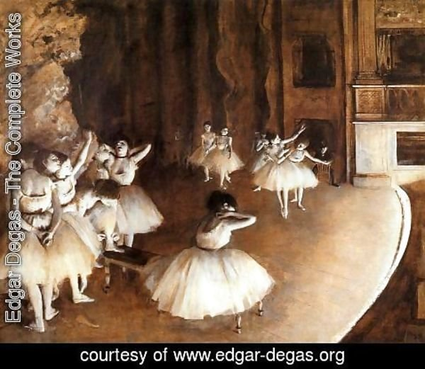 Edgar Degas - General sample of the Balletts on the stage