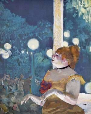 Edgar Degas - In the concert café