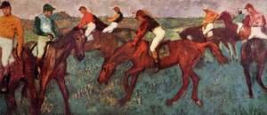 Edgar Degas - Jockeys training