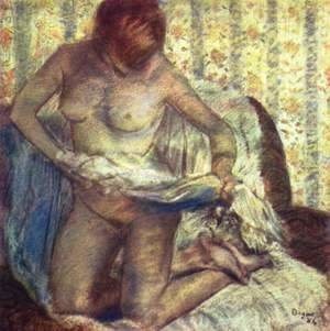 Edgar Degas - Kneeling woman