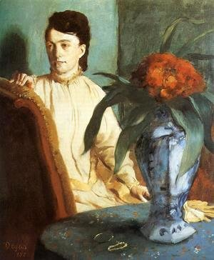 Edgar Degas - Portrait of Mlle. E. Musson