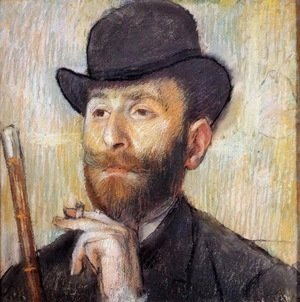 Edgar Degas - Portrait of Zacherie Zacharian