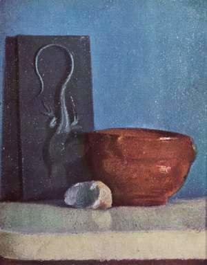 Still life with lizard