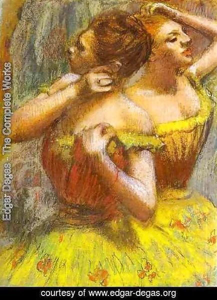 Edgar Degas - Two Dancers.(Deux danseuse)