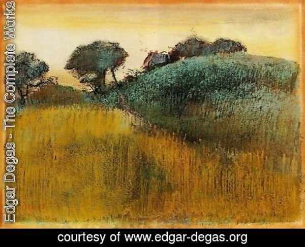 Edgar Degas - Wheatfield and Green Hill